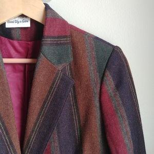 VINTAGE // Fall Stripes Blazer